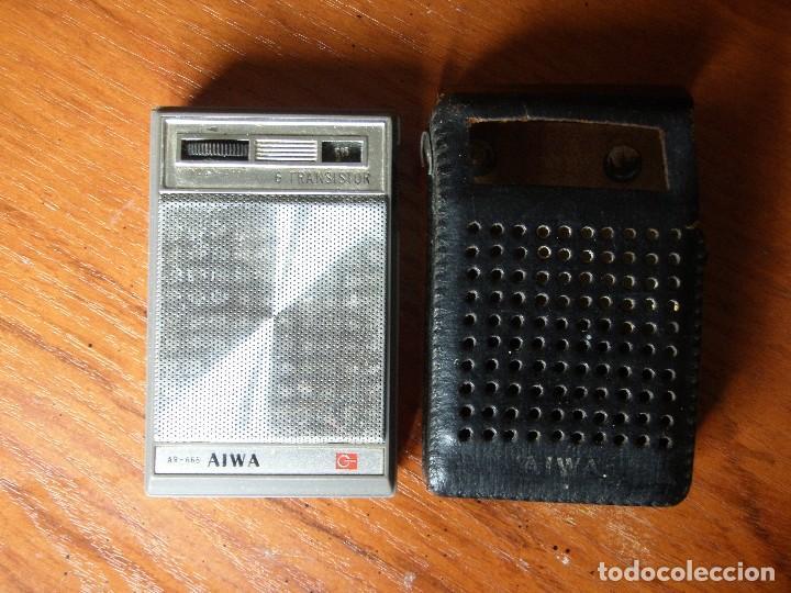 Radios antiguas: RADIO 6 TRANSISTORES AIWA AR-666 FUNCIONANDO - Foto 2 - 125320963