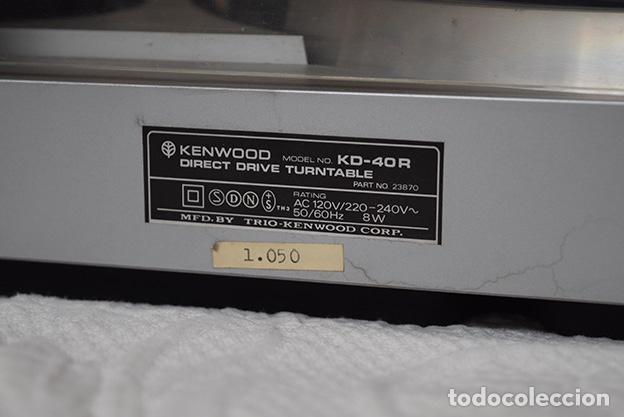 Radios antiguas: Kenwood KD-40R · Tocadiscos funcionando perfectamente - Turntable - Tourne-disque - Plattenspieler - Foto 2 - 125348035
