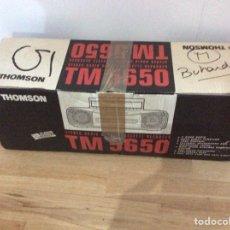 Radios antiguas: CAJA VACÍA EMBALAJE RADIO CASSETTE THOMSON TM 5650. Lote 125954435