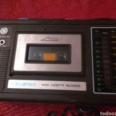 Radios antiguas: RADIO CASSETTE RECORDER CHAMPION. Lote 125966243