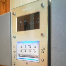 Radios antiguas: ESPECTACULAR MINICADENA SONY MINI DISC CMT-MD1 - CD RADIO AUXILIAR - DISEÑO. Lote 126243527