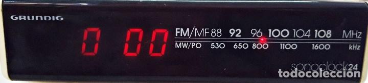 Radios antiguas: Radio reloj GRUNDIG SONOCLOK 24 - Foto 2 - 127671555