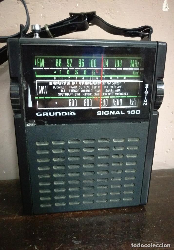 RADIO TRANSISTOR GRUNDIG SIGNAL 100 FUNCIONANDO (Radios, Gramófonos, Grabadoras y Otros - Transistores, Pick-ups y Otros)