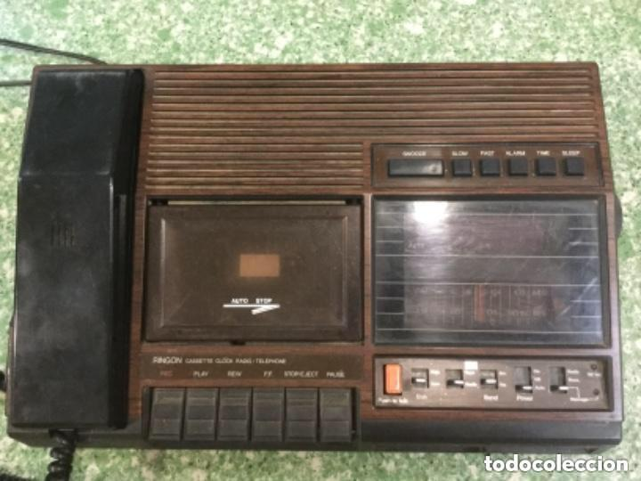 TELÉFONO CONTESTADOR CON RADIO Y RELOJ.- MARCA INTERNATIONAL, MODELO TL-6830 (Radios, Gramófonos, Grabadoras y Otros - Transistores, Pick-ups y Otros)