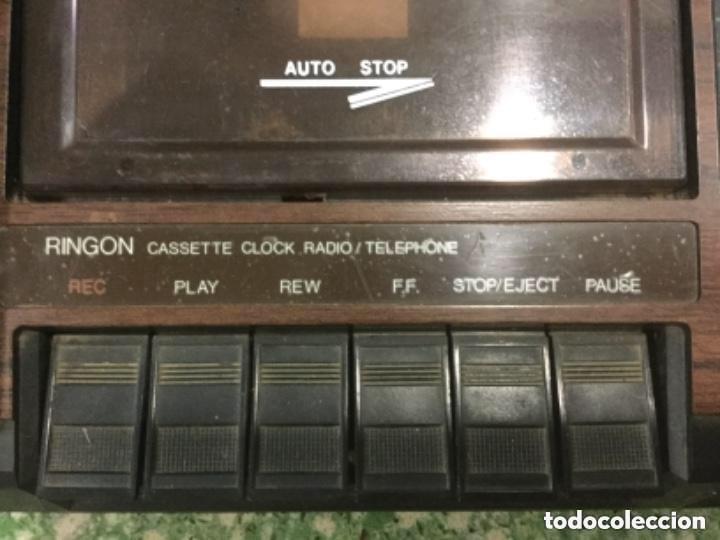 Radios antiguas: Teléfono contestador con radio y reloj.- Marca International, modelo TL-6830 - Foto 5 - 128641063