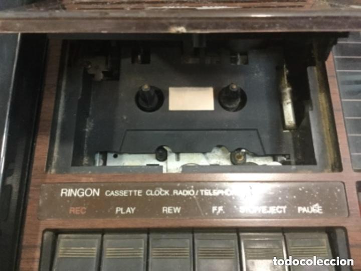 Radios antiguas: Teléfono contestador con radio y reloj.- Marca International, modelo TL-6830 - Foto 7 - 128641063
