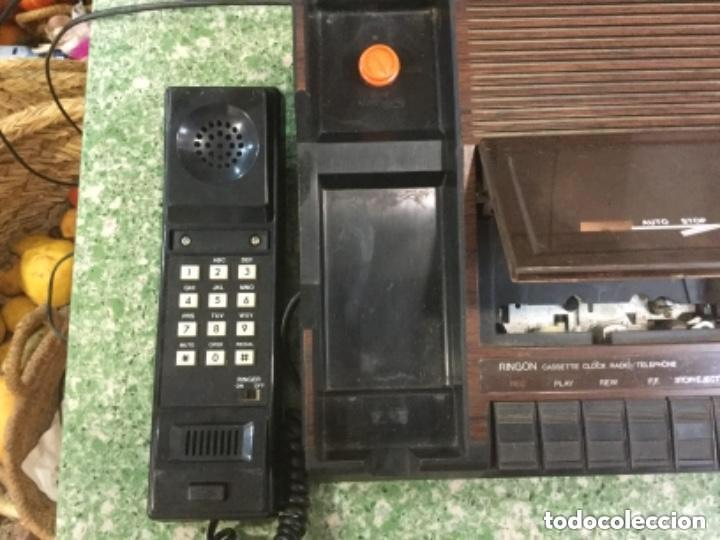 Radios antiguas: Teléfono contestador con radio y reloj.- Marca International, modelo TL-6830 - Foto 8 - 128641063