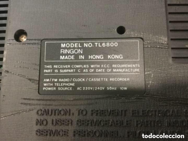 Radios antiguas: Teléfono contestador con radio y reloj.- Marca International, modelo TL-6830 - Foto 20 - 128641063