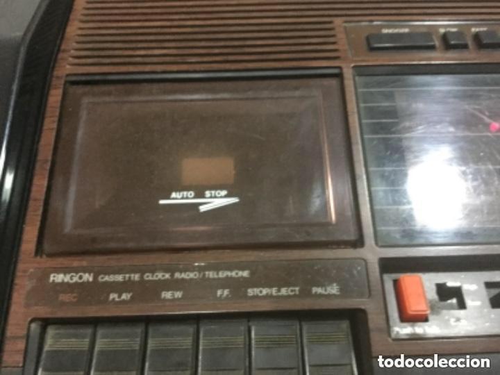 Radios antiguas: Teléfono contestador con radio y reloj.- Marca International, modelo TL-6830 - Foto 22 - 128641063