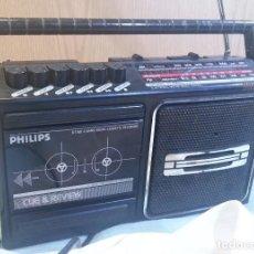 Radios antiguas: RADIO-CASSETTE MARCA PHILIPS. VIEJO APARATO.. Lote 128923459