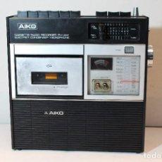 Radios antiguas: RADIO CASSETTE JAPONES AIKO ATPR-406V AÑOS 70 + FUNDA ORIGINAL, FUNCIONANDO. Lote 129142463