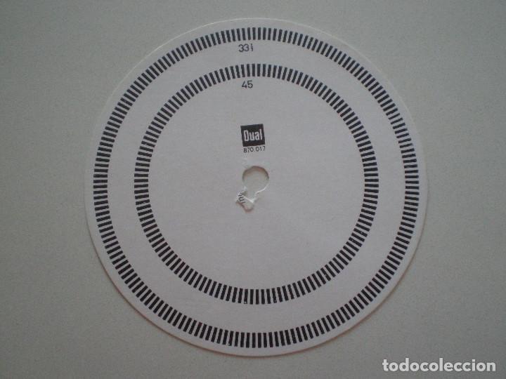 DUAL 070.017 DISCO ESTROBOSCOPICO DE CARTON 1960S (Radios, Gramófonos, Grabadoras y Otros - Transistores, Pick-ups y Otros)