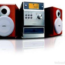 Radios antiguas: PHILIPS MCM190 HI-FI 2 X 5 W RMS MP3-PLAYBACK 2 VÍAS BASS REFLEX PEPETO ELECTRONICA VER VIDEO. Lote 129557003