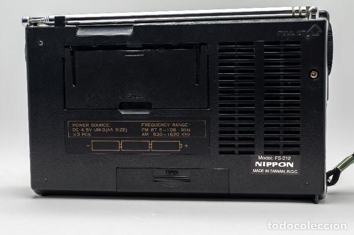 Radios antiguas: RADIO TRANSISTOR VINTAGE NIPPON FS-212 GAMA ALTA - Foto 2 - 130276154