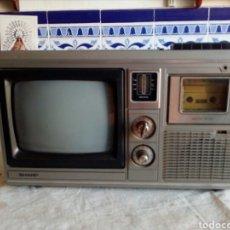 Radios antiguas: EXCELENTE APARATO ,SHARP DE LOS AÑOS 80 TELEVISOR RADIO CASSETE. Lote 130624794