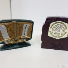 Radios antiguas: RADIOS VINTAGE VERDE Y MARRON. Lote 131178956