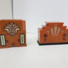Radios antiguas: RADIOS VINTAGE LMITACION PHILIPS MEDIDAS MEDIDAS 20X4CMS. Lote 131179452