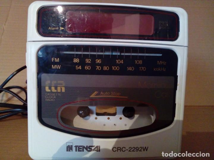 RADIO CASSETE DESPERTADOR (Radios, Gramófonos, Grabadoras y Otros - Transistores, Pick-ups y Otros)