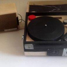 Radios antiguas: MALETIN RADIO TOCADISCOS CROWN STP.35R. Lote 131624174