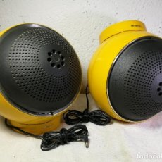 Radios antiguas: VINTAGE 1960 RARE ! WELTRON SPACE AGE SPEAKERS MODEL 2003 ALTAVOCES DISEÑO MODELO AMARILLO. Lote 171201750