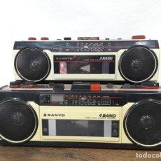 Radios antiguas: LOTE DE DIMINUTOS SANYO ESTÉREO DE LOS 80. Lote 132005366