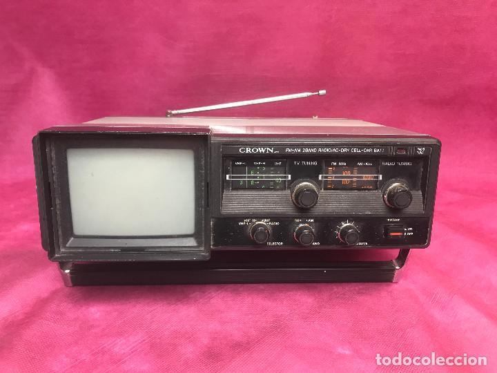 RADIO-TV AÑOS 70 DE CROWN RADIO CORPORATION JAPON (Radios, Gramófonos, Grabadoras y Otros - Transistores, Pick-ups y Otros)