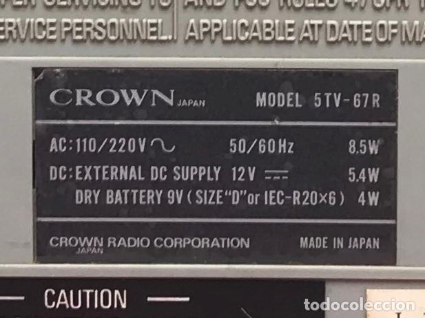 Radios antiguas: Radio-TV Años 70 de CROWN RADIO CORPORATION JAPON - Foto 8 - 139194349
