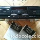 Radios antiguas: DOBLE LETINA CASSETTE JVC TD-W318 PEPETO ELECTRONICA VER FOTOS Y VIDEO. Lote 133205610