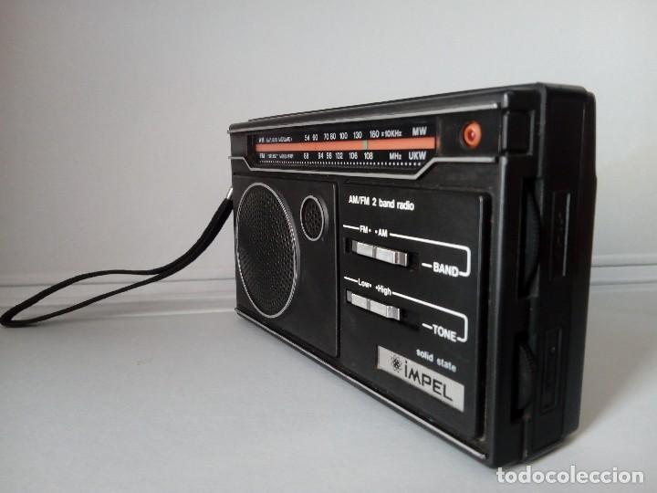 Radios antiguas: 32-Radio transistor Impel sólid state - Foto 2 - 133529266