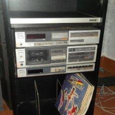 Radios antiguas: EQUIPO POR MODULOS SONY AMPLIFICADOR RADIO Y CASETE CASSETE ALTAVOCES. Lote 134389294
