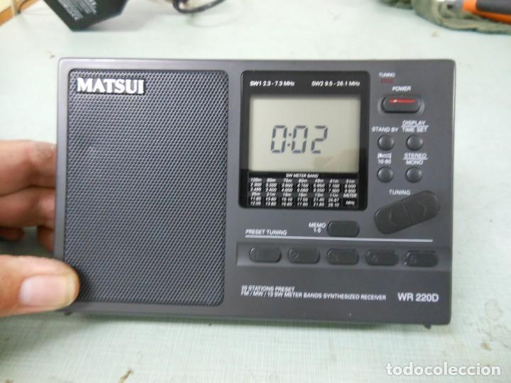 RADIO MULTIBANDAS MATSUI MODELO WR 220D (Radios, Gramófonos, Grabadoras y Otros - Transistores, Pick-ups y Otros)