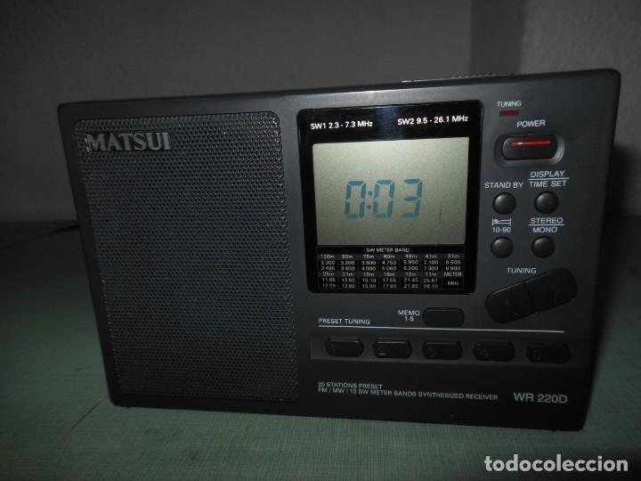 Radios antiguas: RADIO MULTIBANDAS MATSUI MODELO WR 220D - Foto 3 - 134439702