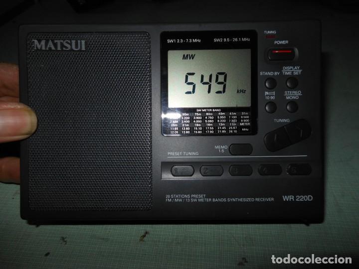 Radios antiguas: RADIO MULTIBANDAS MATSUI MODELO WR 220D - Foto 4 - 134439702