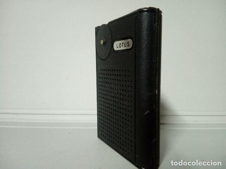 Radios antiguas: 298-Radio transistor Lotus Pocket mini - Foto 2 - 135235082