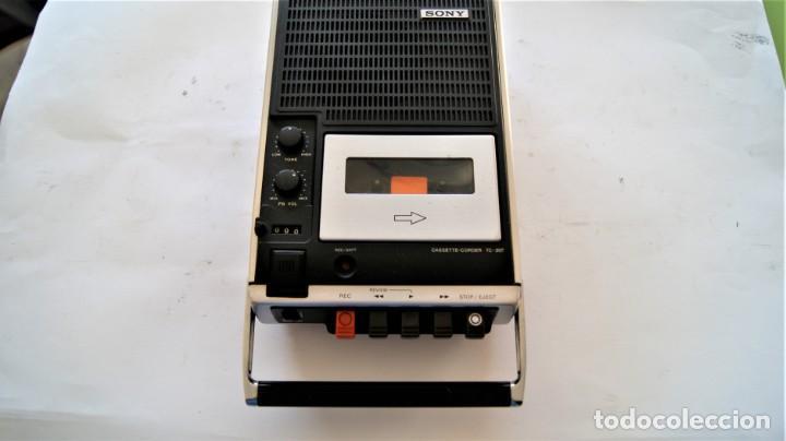 CASSETTE GRABADOR SONY TC-207 AÑO 1970 (Radios, Gramófonos, Grabadoras y Otros - Transistores, Pick-ups y Otros)