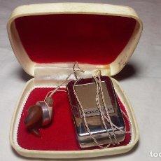 Radios antiguas: ANTIGUO AUDÍFONO MICROSON 22 (EN SU CAJA ORIGINAL) FUNCIONADO. Lote 135937870