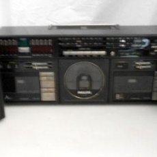 Radios antiguas: RADIO CASSETTE PHILIPS D8958 CON ALTAVOCES. Lote 135984234