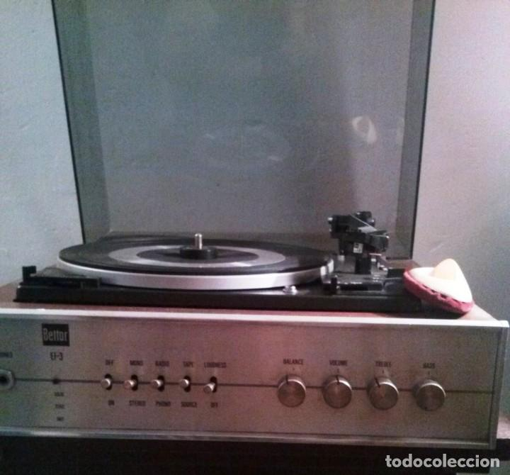 TOCADISCOS ANTIGUO BETTOR DUAL (Radios, Gramófonos, Grabadoras y Otros - Transistores, Pick-ups y Otros)