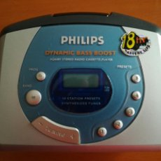 Radios antiguas: AÑOS 80 WALKMAN PHILIPS DYNAMIC BASS BOOST AQ6681 STEREO RADIO CASSETTE PLAYER. Lote 137506518