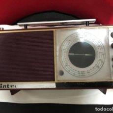 Radios antiguas: RADIO ÍNTER VINTAGE AÑOS 60 70 FUNCIONANDO CORRECTAMENTE . Lote 137514938