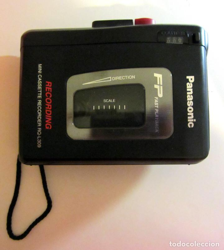 Radios antiguas: WALKMAN WALK-MAN PANASONIC MINI CASSETTE RECORDER RQ-L309 FP FAST PLAYBLACK - Foto 1 - 137568070