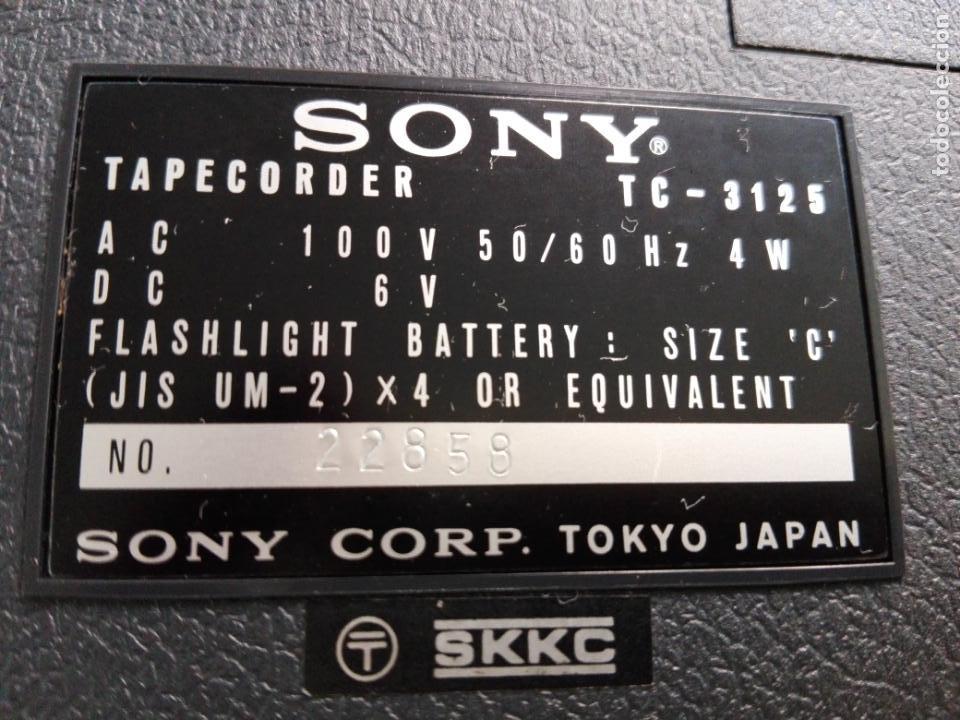 Radios antiguas: cassette stereo-sony tc- 124cs-antiguo.c.1970-completo-maleta-altavoces-mínimo uso-ver fotos - Foto 27 - 104043851