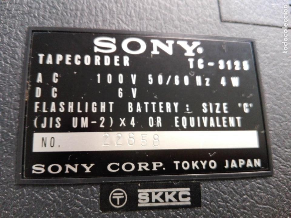 Radios antiguas: cassette stereo-sony tc- 124cs-antiguo.c.1970-completo-maleta-altavoces-mínimo uso-ver fotos - Foto 28 - 104043851