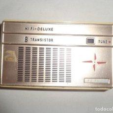Radios antiguas: RADIO PORTATIL 8 TRANSISTOR HI-FI DELUXE . Lote 138006546