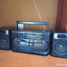 Radios antiguas: RADIO CASSETTE SANYO MW 172L DOBLE PLETINA BOOMBOX. Lote 138827082