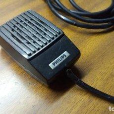 Radios antiguas: MICROFONO ANTIGUO PHILIPS LBB-9201/00 DE MAGNETOFON / GRABADORA CASETE. Lote 141620206