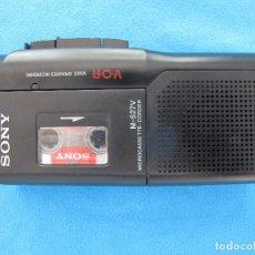 Radios antiguas: MINIGRABADORA SONY TIPO PERIODISTA, AÑOS 80. Lote 139878610