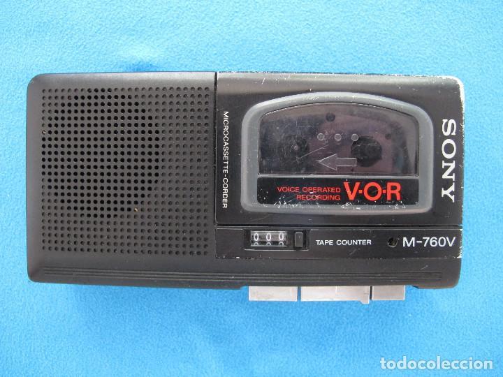 MINIGRABADORA SONY TIPO PERIODISTA, AÑOS 80 (Radios, Gramófonos, Grabadoras y Otros - Transistores, Pick-ups y Otros)