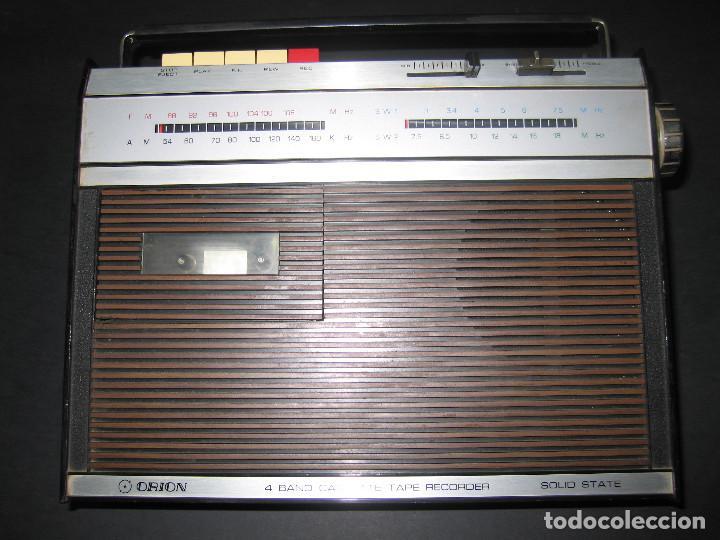 RADIO ORION SOLID STATE 4 BAND CASSETTE TAPE RECORDER - '60S - 117/220V AC/DC (Radios, Gramófonos, Grabadoras y Otros - Transistores, Pick-ups y Otros)