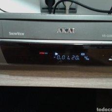 Radios antiguas: REPRODUCTOR DE VIDEO VHS, AKAI, MOD.VS-G286EO, SIN MANDO. FUNCIONA PERFECTAMENTE. Lote 140522972